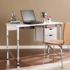 southern enterprises writing desk waypoint writing desk white chrome southern enterprises inc