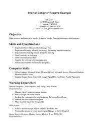 interior designer resume for fresher design resume template
