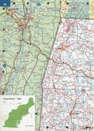 Massachusetts State Map by West Massachusetts Road Map