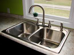 silver wall mount kitchen sink and faucet combo two handle pull