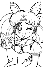 lovely sailor moon coloring pages for girls womanmate com