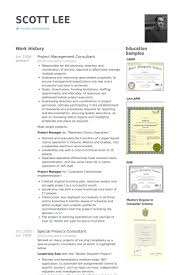 Sample Consulting Resume by Project Management Consultant Resume Samples Visualcv Resume