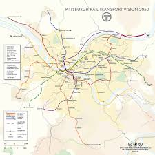 Pittsburgh Neighborhood Map Pittsburgh Rail Transport Vision 2050 Rail Transport And Subway Map
