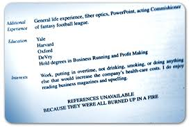 putting interests on resume