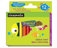 classmate product wax crayons 12 shades by statmo in
