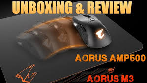review aorus m3 gaming mouse and aorus amp500 rug product