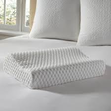 Sensorpedic Memory Foam U0026 Fiber Soft Tex Sensorpedic Classic Contour Neck 2 Pack Pillow 14 X 20