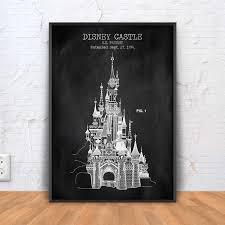Castle Blueprint Disney Castle Patent Print Cinderella Castle Poster Disney