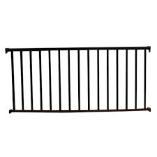 aluminum stair railings deck porch railings the home depot textured black aluminum baluster railing kit