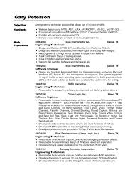 Resume With Sql Experience Avionics Technician Resume Sample Resume Sample