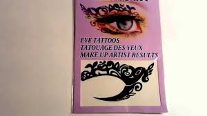 eyeliner tattoo violent eyes buyincoins fashion new sexy women eyes rock sticker transfer crystal