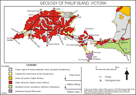 Geological Map Geological Map Of Phillip Island Victoria Australia