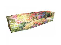 cardboard casket flower garden cardboard coffin earth to heaven coffins