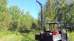 utv side by side deer hoist by buc up com youtube