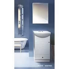 fine fixtures petite 18 inch wood white bathroom vanity free