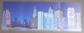 backdrop city sets that x252px7 cardboard backdrop with nighttime city pattern