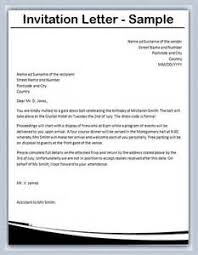 sample invitation letter ideas business invitation letter format