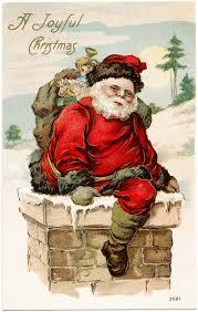 vintage santa postcard fashioned card santa in