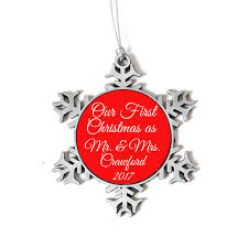our first christmas as mr u0026 mrs ornament personalized