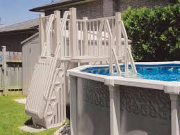vinyl works above ground swimming pool resin deck kit taupe 5 x