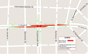 New Orleans Street Car Map by Rampart St Claude Streetcar Project Shuts Esplanade Avenue