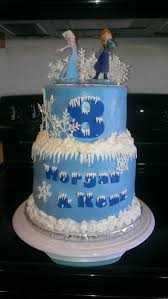 frozen birthday cake 2 layer fondant cake images