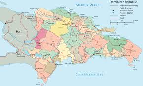 dominican republic political map santo domingo