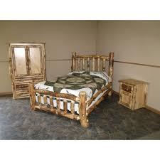 rustic aspen log complete bedroom set