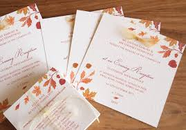 autumn wedding invitations autumn wedding invitations stationery paper pleasures wedding