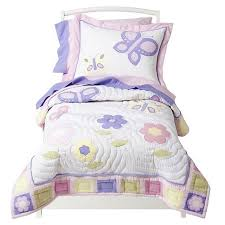 Girls Bedding Purple by Pink U0026 Purple Butterfly Toddler Comforter Bedding 5pc Bed In