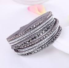 leather crystal bracelet images 2016 new leather bracelet rhinestone crystal bracelet wrap jpg