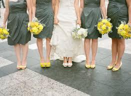 grey bridesmaid shoes gray bridesmaids dresses yellow shoes elizabeth designs