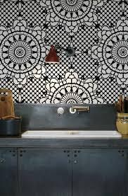 tapisserie cuisine le papier peint géométrique en 50 photos avec idéеs papier peint