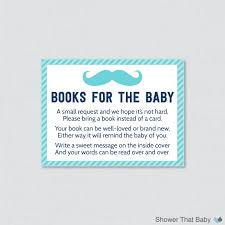 Baby Shower Invitations Bring A Book Instead Of Card Mustache Baby Shower Bring A Book Instead Of A Card Invitation