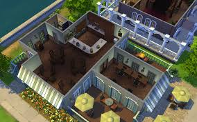 Coffee Shop Floor Plans Free New Lot Sunbuck U0027s Coffee Shop U0026 Library By Ehaught58 U2014 The Sims