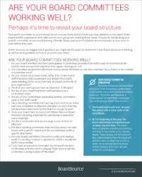 structure committees and meetings boardsource