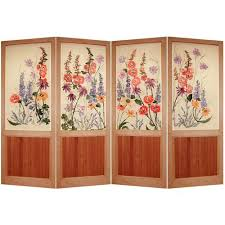 Folding Room Divider by Hand Printed Kestrel Folding Screen Cottage Garden Room Divider