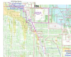 Seattle Districts Map by Columbia City Zoning
