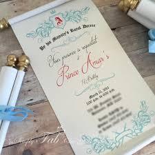 wedding invitations handmade royal prince princess scroll invitation birthday wedding