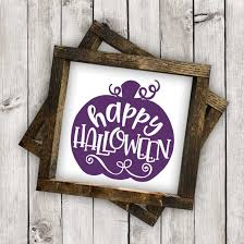happy halloween in pumpkin cut file svg eps ai dxf png