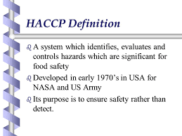 haccp d inition cuisine hazard analysis and critical points ppt