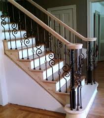Banister Rail And Spindles St Louis Stair U0026 Wood Works Metal Or Iron Balusters St Louis Mo