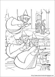 sleeping beauty coloring pages free kids
