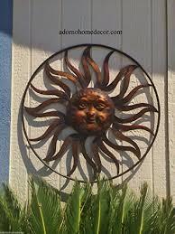 Wall Decor For Outdoor Patios Amazon Com Large Round Metal Sun Wall Decor Rustic Garden Art
