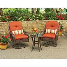 Patio Furniture Bistro Sets - furniture orange swivel outdoor bistro set with round table and