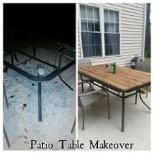patio table top replacement idea patio table makeover shattered glass redo home improvement ideas