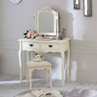 shabby chic dressing table vanity makeup table storage with mirror