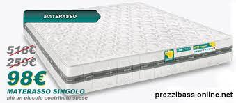 prezzi materasso singolo materasso materasso singolo eminflex mito bioenergy opinioni