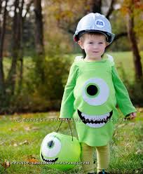 cool monsters inc mike wazoski toddler diy costume