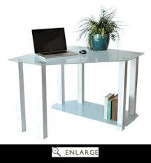 Computer Desk White Gloss Tempered Glass Gloss White Corner Computer Desk Rta Ct 013w